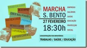 Marcha S.Bento 27 Fevereiro. Fev.2014