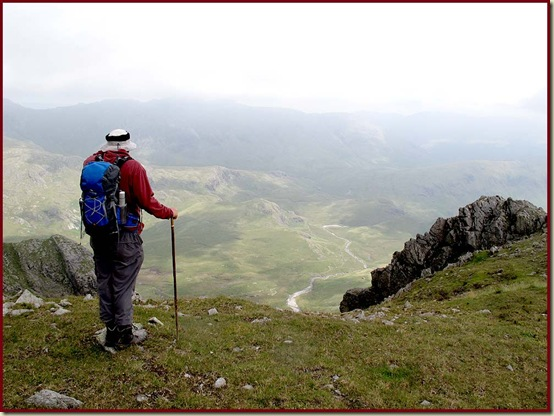 Stuart admires the view towards Scar Lathing and the Hard Knott ridge
