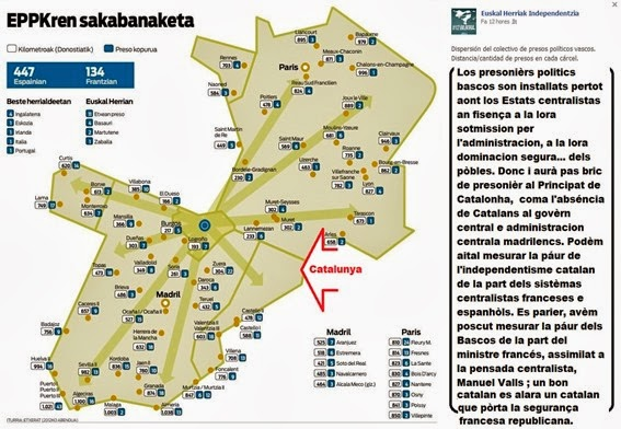 mapa dels presonièrs bascos