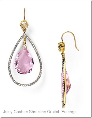 Juicy Couture Shoreline Orbital Teardrop Earrings