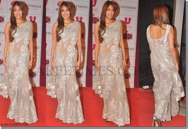 Jiah_Khan_Silver_Saree