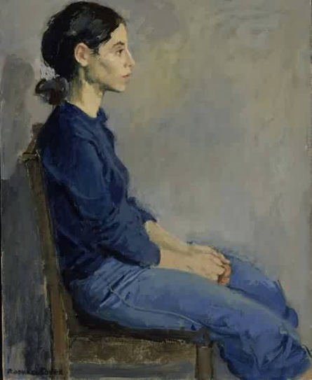 Raphael-Soyer-xx-Girl-in-Blue-1975