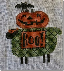 Boo Sheep - Counted Cross Stitch - complete