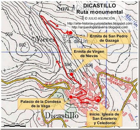 Mapa Dicastillo - Ruta monumental