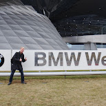 bmw welt entrance sign in Munich, Bayern, Germany