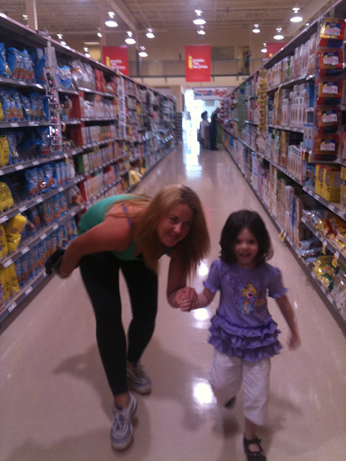 Grocery shopping with Auntie Erica