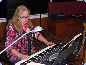 Desiree Barrows played her Korg Pa500 for us