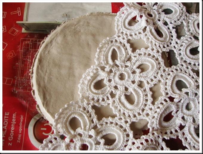 DIY das clay plate lace