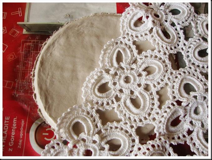 DIY das clay plate lace