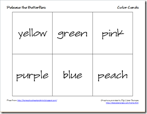 butterflies color cards 4