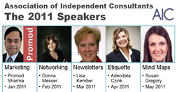 The 2011 Speakers for AIC (click to enlarge)