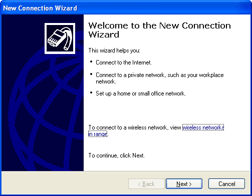 Cara Pengaturan Koneksi Internet (Dial Up) Pada Windows XP