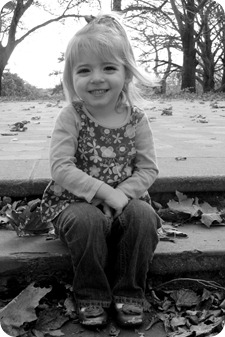 Elaine 3 Year Portraits B&W