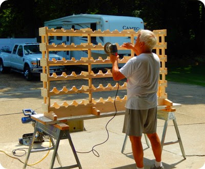 building wine rack