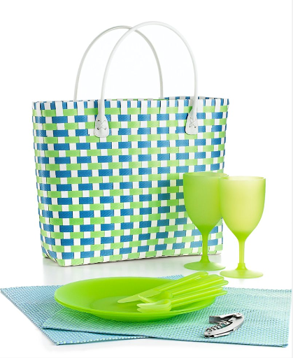 This bright tote would be a great way to keep your picnic pack all in one place. Keep in the car all summer. You never know when you'll need it. Martha Stewart Collection (macys.com)