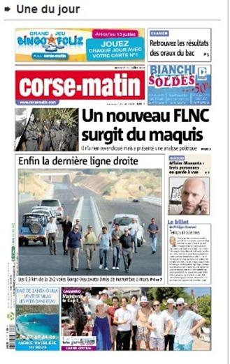 FLNC tòrna segon CorseMatin