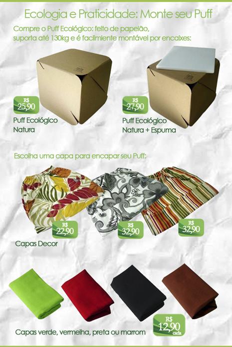puff ecologico ecochoice papelao