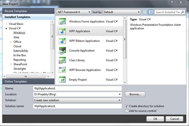 Tworzenie aplikacji WPF