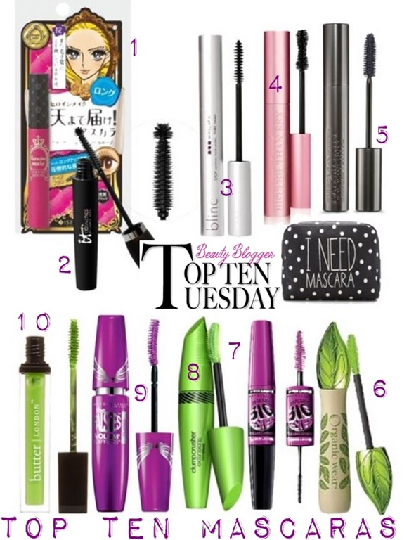 My Top Ten Mascaras