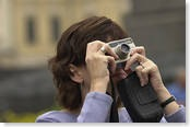woman clicking photos