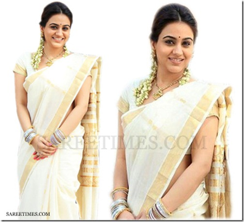Aksha_White_Traditional_Saree