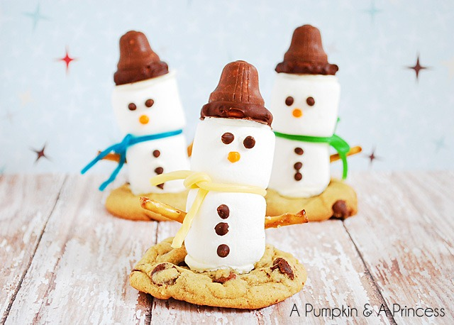 Marshmallow-Snowman-Treats-Recipe