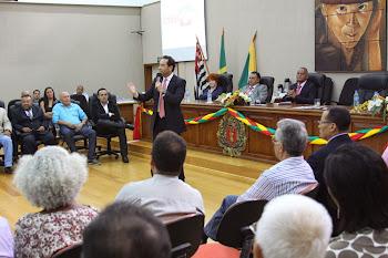Sessão solene dos 55 anos na Câmara Municipal