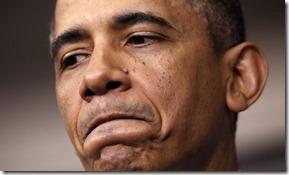 Frowrning Obama