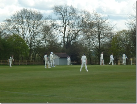cricket at top of lapworth locks