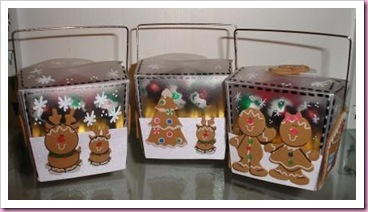 Gingerbread men Takeaway Treat Box