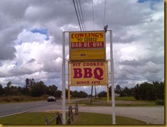217 Cowlings BBQ Sign