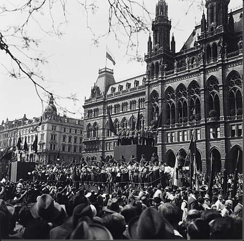 4 May Day Gathering Outside the City Hall, Vienna 1930