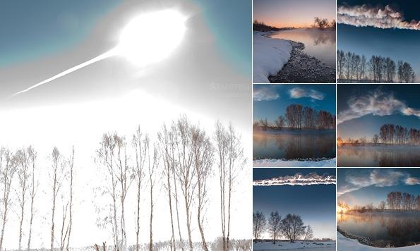 """Просмотр альбома """"Метеорит над Челябинском. Первые фото"""""""