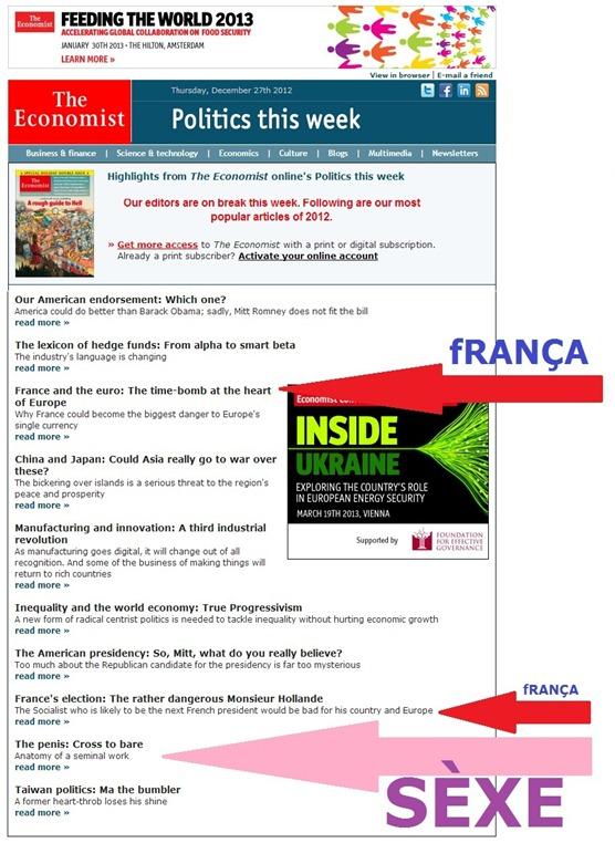 Articles los mai visitats de The Economist 2012