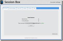 صفحة حسابك على إضافة مزامنة وحفظ نوافذ التصفح لمتصفح جوجل كروم وفايرفوكس Session box