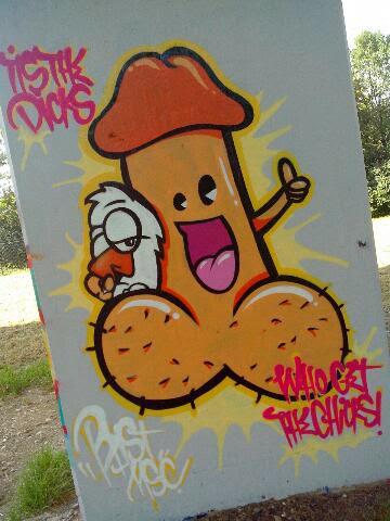 Graffiti Huhn und Penis Bridge Gallery
