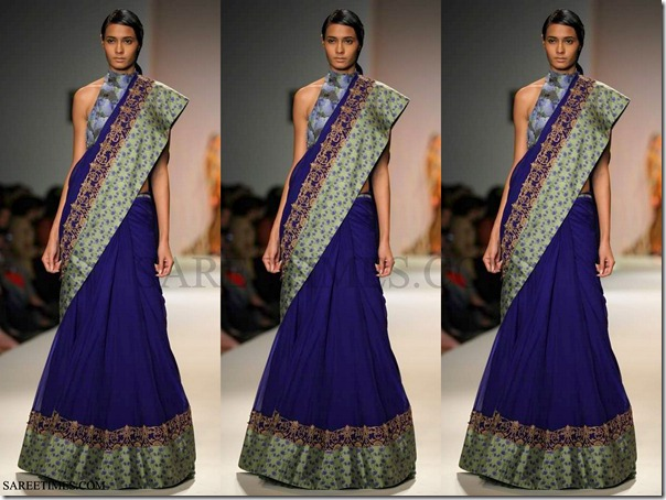 Anita_Dongre_Blue_Saree