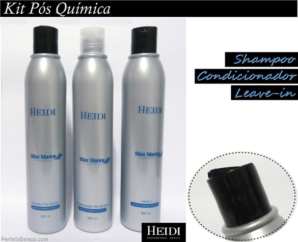 sampoo, condicionador, leave-in Heidi professional beauty