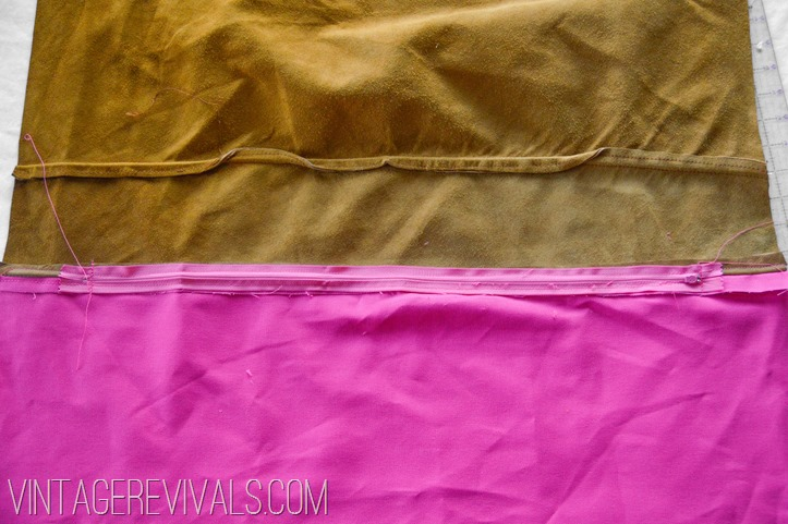 DIY Leather Pillow Tutorial vintagerevivals.com-16