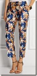 J Crew Shantung Floral Print Pants