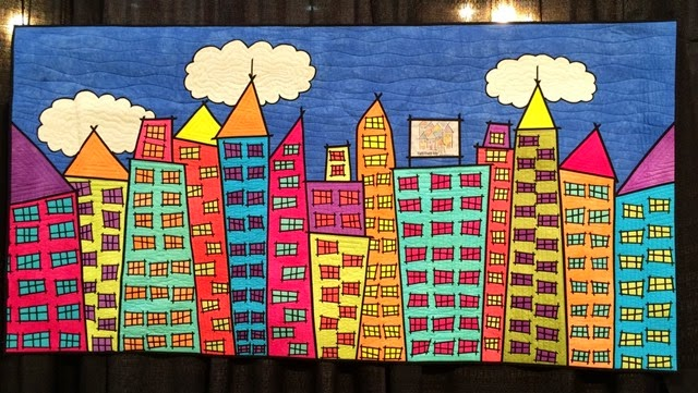 Tutti Frutti City Skyline by Susan Bleiweiss