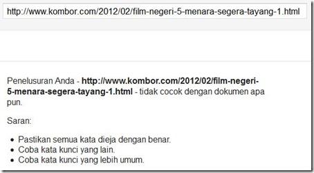 15 februari 2012 belum keindeks juga