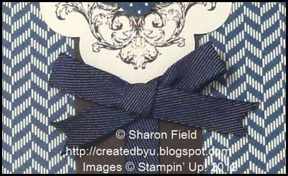 mini glue dots used to attach bunny ear blue jean denim ribbon bow