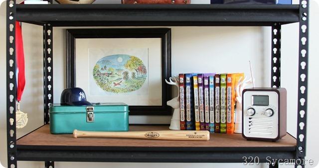 boy bookshelf