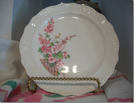pink flower dishes 013