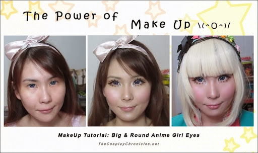 The Cosplay Chronicles Daily Dose Of Crafting Madness Makeup Tutorial Big Round Anime Girl Eyes