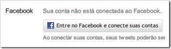 Entre no Facebook e conecte suas contas