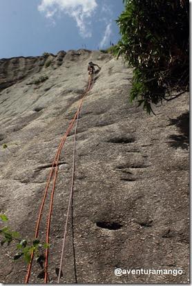 Julio guiando a via Calanguinho