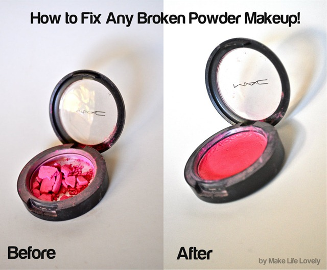 how to fix any broken powder makeup