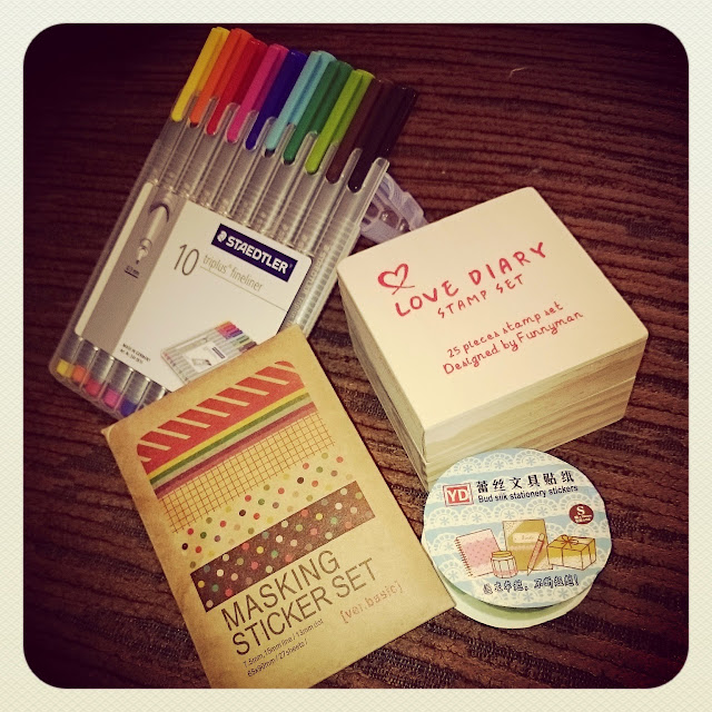filofax pens goodies stamps washi tape stickers planner